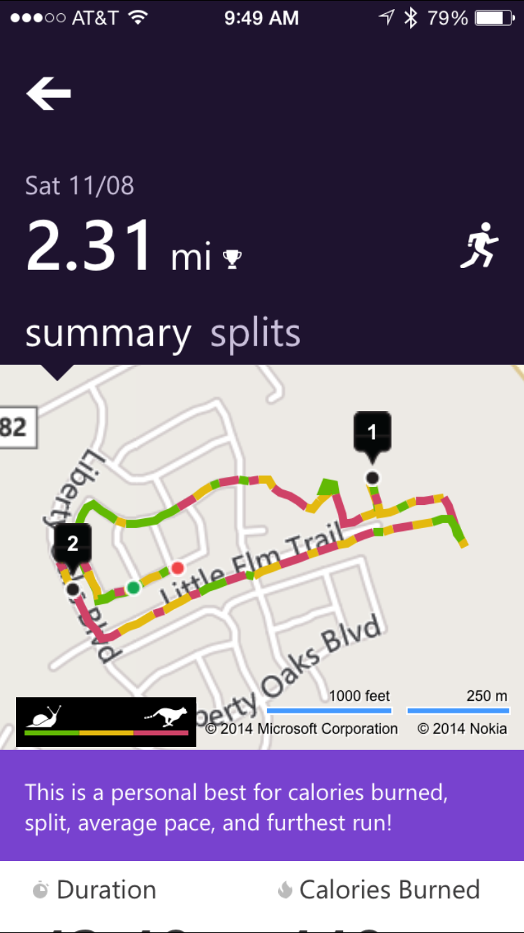 Post 2014 1120 MicrosoftBand run My Weekend With The Microsoft Band